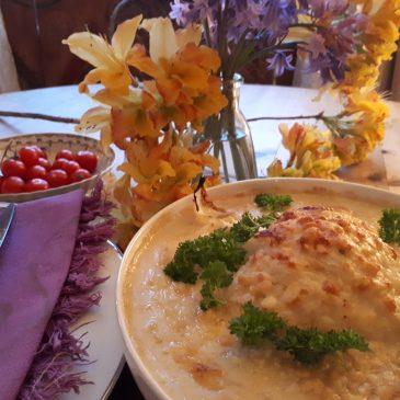 Cauliflower Gratin with Red Onion Marmalade